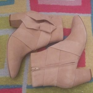 New H&M suede beige booties